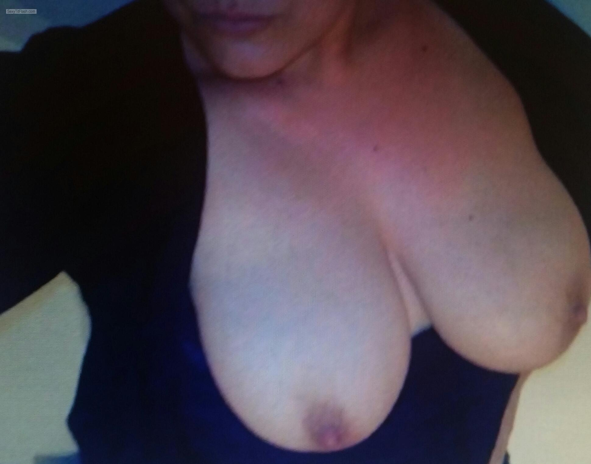 Tit Flash: My Big Tits (Selfie) - Tittenmaus from Germany